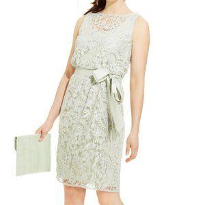 Adrianna Papell Mint Green Sleeveless Lace Dress 8
